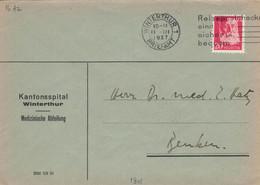 Portofreiheit No. 28 -  Kantonsspital Winterthur - Medizinische Abteilung 1937 > Benken ZH - Briefe U. Dokumente