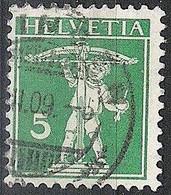 Schweiz Suisse 1909: Fils De Tell-Knabe Zu 119 Mi 113 I Yv 130 Mit Voll-Stempel OENSINGEN ?.III.09 (Zumstein CHF 0.50) - Used Stamps