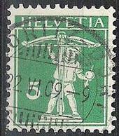 Schweiz Suisse 1909: Fils De Tell-Knabe Zu 119 Mi 113 I Yv 130 Voll-Stempel ST.MORITZ-DORF 22.VI.09 (Zumstein CHF 0.50) - Used Stamps