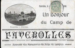 Faverolles : Un Bonjour Du Camp - Other Municipalities
