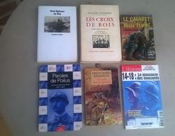 6 LIVRES CROIX DE BOIS LE FEU PAROLES POILUS ALLEMAND 1914 1918 WW 1 - 1914-18