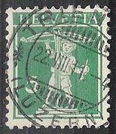 Schweiz Suisse 1911: Fils De Tell-Knabe (1909) Zu 119 Mi 113 I Yv 130 O TRIENGEN 22.VIII.11 (LUZERN) (Zumstein CHF 0.50) - Used Stamps