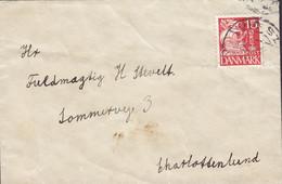 Denmark Brotype VIG ST. 19?? 'Petite' Cover Brief Sommervej 3, CHARLOTTENLUND Karavelle Ship Schiff Stamp - Brieven En Documenten