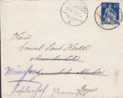 Switzerland DAVOS PLATZ  1911 'Petite' Cover Brief Lettre GARMISCH Bei MÜNCHEN Germany READRESSED Sitzende Helvetia - Briefe U. Dokumente