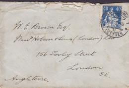 Switzerland LAUSANNE 1922 'Petite' Cover Brief Lettre LONDON England Sitzende Helvetia Stamp - Briefe U. Dokumente