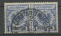 Deutsche Post In Der Türkei 8 Waag. Paar Gest. - Kantoren In Het Turkse Rijk