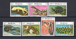 Laos 1984 - Reptiles - Snakes, Turtles, Lizards - Stamps 7v - Complete Set - MNH** - Superb*** - Laos