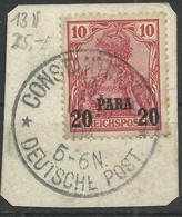 Deutsche Post In Der Türkei 13 II Bfst. Constantinopel 3 - Kantoren In Het Turkse Rijk