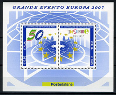 2007 -  Italia - Italy -  Trattato Di Roma - Nr. BF. 50 - Mint - MNH - Blocks & Sheetlets