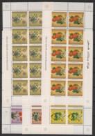 Palestine - 1996 - N°Yv. 53 à 57 - Fleurs - Feuillets De 10 / Mini Sheets - Neuf Luxe ** / MNH / Postfrisch - Palestine