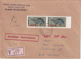BUND 1979 LETTRE EN VALEUR DECLAREE DE FRANKFURT - Lettres & Documents