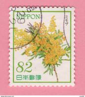 2017 GIAPPONE Fiori Flowers Mimosa - 82 Y Usato - Gebruikt