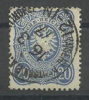 Deutsche Post In Der Türkei V 34 A Gest., Geprüft Jäschke-Lantelme - Kantoren In Het Turkse Rijk
