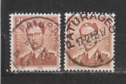 COB 1028 Oblitération Centrale PATURAGES Deux Caractères - 1953-1972 Bril