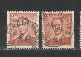 COB 1028 Oblitération Centrale PIRONCHAMPS - 1953-1972 Bril