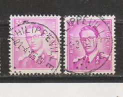 COB 1067 Oblitération Centrale PHILIPPEVILLE - 1953-1972 Bril
