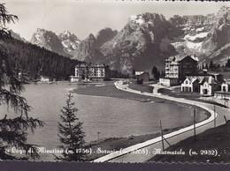 Italy PPC Lago Di Mesurina Sorapis Marmasole 1955 Echte Real Photo Véritable (2 Scans) - Belluno