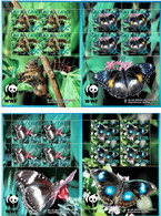 AITUTAKI 2008 Mi 778-781 WWF BUTTERFLIES 4 X MINT SHEETLETS ** - Aitutaki