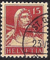 Schweiz Suisse Tell 1927: Zu 173 Mi 205 Yv 203 Mit Eck-Stempel ST.GALLEN 23.VI.?? (Zumstein CHF 9.00) - Used Stamps