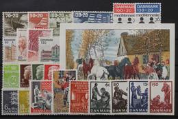 Dänemark, MiNr. 611-634, Jahrgang 1976, Postfrisch / MNH - Ohne Zuordnung