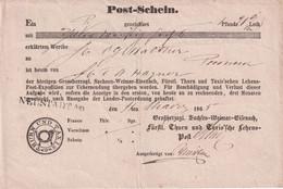 THURN U. TAXIS 1865 DOCUMENT POSTAL - Thurn Und Taxis