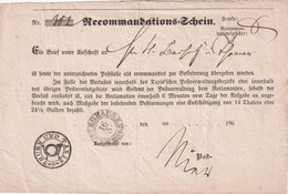THURN U. TAXIS    DOCUMENT POSTAL - Thurn Und Taxis