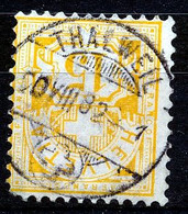 "HELVETIA - Mi 49 -  ""THALWEIL"" - Cote 430,00 € -  Verdund/aminci, Ronde Hoek/coin Arrondi - (ref.3790) - Usati"