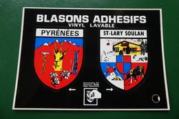 P/ BLASON ECUSSION ADHESIF SAIN-LARY-soulan : Pyrenées Mrs Editions Cap Theojac  Ref 650693 - Altri Comuni
