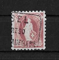 1888 STEHENDE HELVETIA  →  (11 Zähne Senkrecht) Weisses Papier Form A   ►SBK-71B / Bahnpoststempel BASEL◄ - Usati
