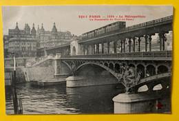 15362 - Paris Le Métropolitain La Passerelle Du Pont De Passy - Metro, Estaciones
