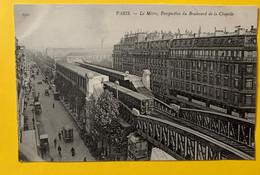 15363 - Paris Le Métro Perspective Du Boulevard De La Chapelle - Metro, Estaciones