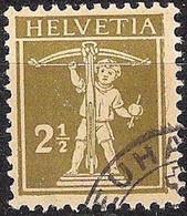 Schweiz Suisse 1927: Fils De Tell-Knabe Zu 169 Mi 198 Yv 199 Mit Eck-Stempel Von NEUHAUSEN (Zumstein CHF 5.00) - Used Stamps