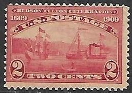 US  1909   Sc#372  Ships  MLH   2016 Scott Value $10 - Unused Stamps
