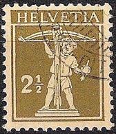 Schweiz Suisse 1927: Fils De Tell-Knabe Zu 169 Mi 198 Yv 199 Mit Eck-Stempel LAUSANNE BARRE-CITÉ  (Zumstein CHF 5.00) - Used Stamps