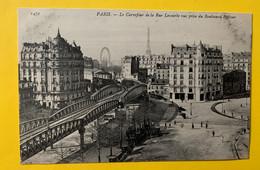 15365 - Paris Le Carrefour De La Rue Lecourbe Vue Prise Du Boulevard Pasteur - Metro, Estaciones