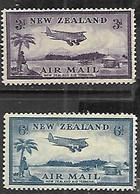 NZ  1935   Sc#C7-8  Airmails  MLH  2016 Scott Value $17.25 - Airmail