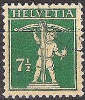 Schweiz Suisse 1927: Fils De Tell-Knabe Zu 171 Mi 202 Yv 197 Mit Eck-Stempel Unlesbar (Zumstein CHF 7.00) - Used Stamps