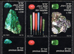 Israel - 1981 - Precious Stones - Mint Stamp Set With Tabs - Ungebraucht (mit Tabs)