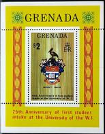 GRENADA 1974 West Indies University MINIATURE SHEET MNH - Grenade (1974-...)