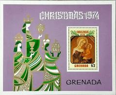 GRENADA 1974 Christmas MINIATURE SHEET MNH - Grenade (1974-...)