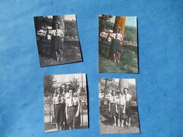 LOT 4 PETITES   PHOTOS  FILLE FEMMES COMPAGNONS FRANCE CREUSE FELLETIN AUBUSSON ILE DE JUILLET CHANTIERS JEUNESSE WW2 - Guerre, Militaire