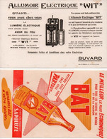 """2 Buvards """" ALLUMOIR ELECTRIQUE WIT """" & """" SAPOLUXE - NETTOYANT BAT """"  En L'état ! Voir La Ou Les Photos - - Unclassified"""