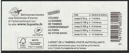 1216A-C3 CARNET MARIANNE DE CIAPPA BLEU EUROPE LOGO AVION - Definitives