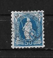 1888 STEHENDE HELVETIA  →  (11 Zähne Senkrecht) Weisses Papier Form A   ►SBK-70B / Rundstempel SBK-575.-◄ - Usati