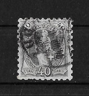 1888 STEHENDE HELVETIA  →  (11 Zähne Senkrecht) Weisses Papier Form A Rundstempel ZUG     ►SBK-69B / SBK-1200.-◄ - Usati