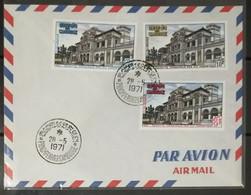 Cambodia Cambodge Kampuchea Cover 1971 : Central Post Office In Phnom Penh - Cambodia