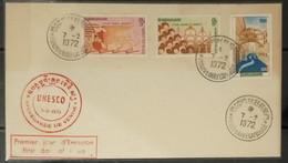 FDC Cambodia Cambodge Kampuchea Cover 1972 : Unesco Monuments / Saving Venise - Cambodia