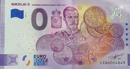 BILLETE 0 Euro Souvenir 0 € FINLANDIA: LEBH 2020-5 Aniversario, NIKOLAI II - SUOMEN SUURIRUHTINAS 1894-1917 - Ohne Zuordnung