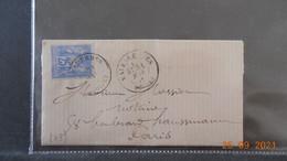 Lettre De 1877 à Destination De Paris - 1876-1898 Sage (Type II)
