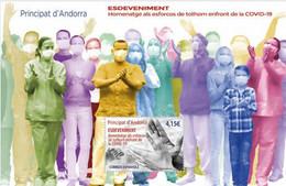 SPANISH ANDORRA, 2021, MNH, HEALTH. COVID, S/SHEET - Otros